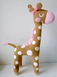 Knuffel geboortekaartje: meisjes giraf