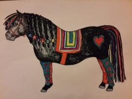 Knuffel van tekening: pony knuffel voor Carlos