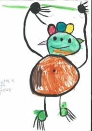 Knuffel van tekening: Lotta tekent voor Greta