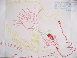 Knuffel van tekening: gedroomd kipbeest voor Minthe
