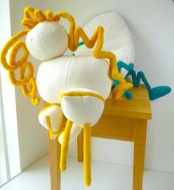 Knuffel van tekening: knuffel krabbel