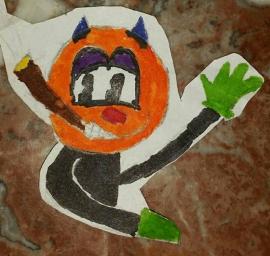 Knuffel van tekening: Felix Mickey
