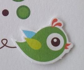 Knuffel geboortekaartje: vogel knuffel