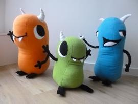 custom toys: characters Bonk, Tiki, Huku