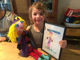Knuffel van tekening: prachtige prinses