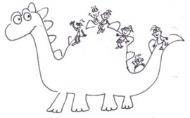 custom toy: knuffel draak - van illustratie