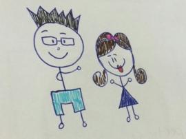 Knuffel van tekening: knuffel echtpaar 'Pennestreek'
