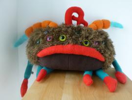 Knuffel van tekening: spin monster