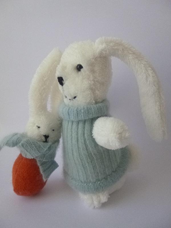 Oud knuffeltje namaken: lief klein konijntje