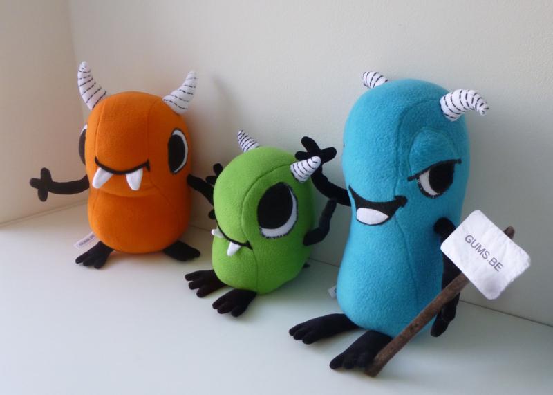 custom toys: Bonk, Tiki, Huku op reis