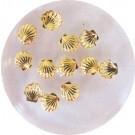 metal studs 7 goud sea shell