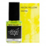 marble ink neon yellow