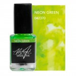 neon green marble ink