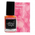 marble ink neon pink
