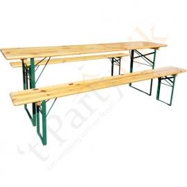 Biertafelset (tafel + 2 banken)