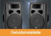 Geluidsinstallatie huren | 't Partyrijk | Verhuur | Heemskerk, Beverwijk, Castricum, Uitgeest