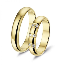 Alliance relatie en trouwringen L240