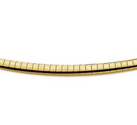 Gouden omega bicolor collier