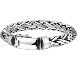 Zilveren massieve geoxideerde armband 10mm