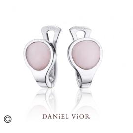 DANiEL ViOR  Pink Opalite oorbellen