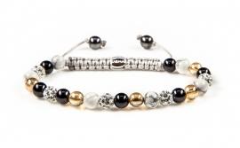 Karma XS armband Spiral Black Meets Gold