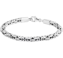 Zilveren massieve geoxideerde armband 5mm