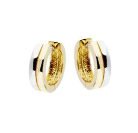 Gouden bi-color creolen