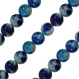 Quoins collier regenboog Jade blauw QK-J-BL