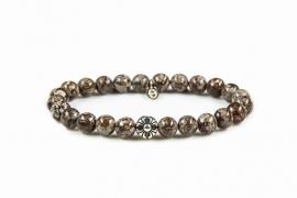 KARMA armband Wishbones Silver Bead 86196
