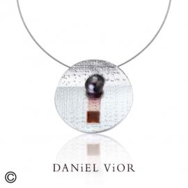 DANiEL ViOR Black Pearl Brown collier
