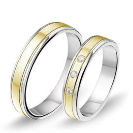 Alliance relatie en trouwringen B1409