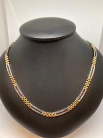 Gouden bicolor collier