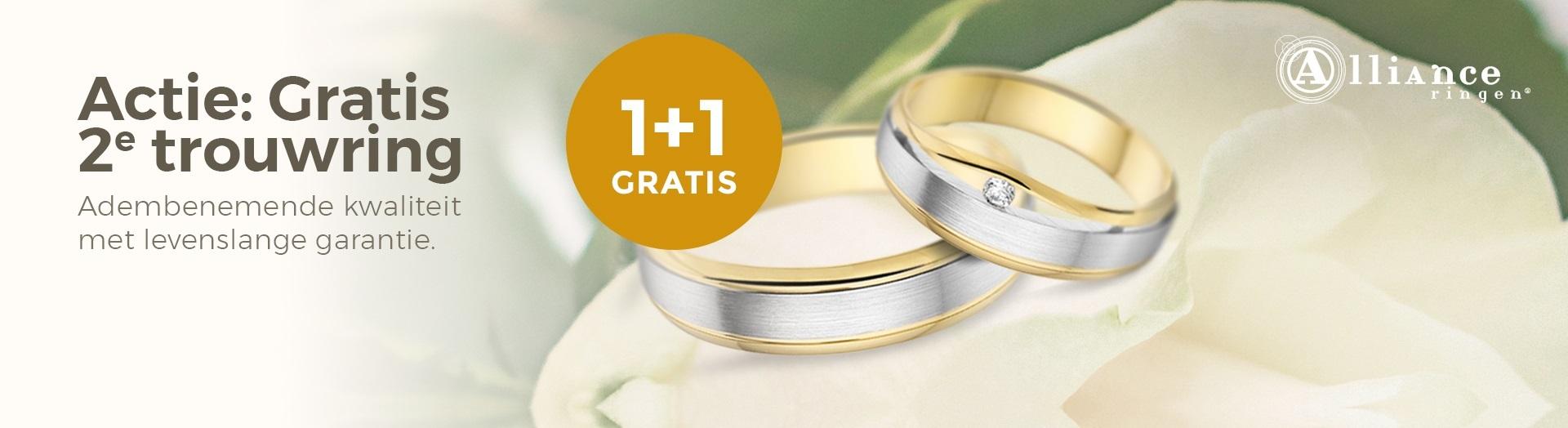 GRATIS 2e trouwring!