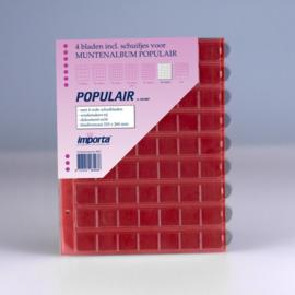 4 x 63-vaks populair muntbladen met rode schutbladen Geschikt voor 252 munten