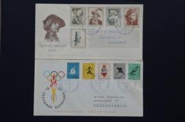 FDC JAARGANG 1956 COMPLEET GEBRUIKT. CAT 197,50€