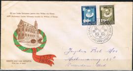 NEDERLAND 1950 FDC E3 GESLOTEN KLEP