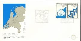 NEDERLAND NVPH FDC E204 EUROPA EUROPE