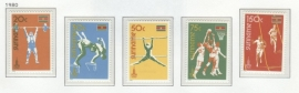 REP. SURINAME 1980 ZBL SERIE 210 OLYMPISCHE OLYMPICS MOSKOU