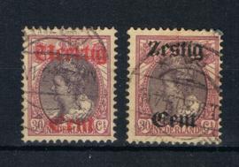 NEDERLAND 1919 NVPH 102-103 GESTEMPELD ++ L 533-2