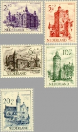 NEDERLAND 1951 NVPH SERIE 568 KASTELEN CATLES