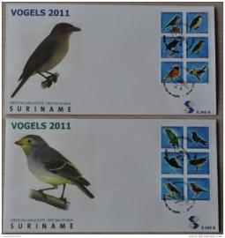 REP. SURINAME ZBL FDC E 345AB  VOGELS BIRDS OISEAUX