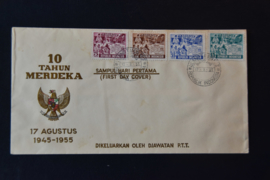1955 FDC ZBL 142-145