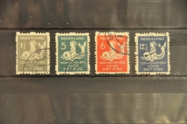 NEDERLAND 1929 NVPH R 82-85 GESTEMPELD ++ J 8