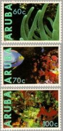 ARUBA 1990 NVPH SERIE 073 ONDERWATER MARINE