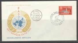 ANTILLEN 1963 FDC E 23-3 ANTI HONGER