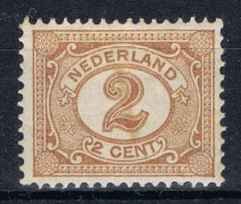 NEDERLAND 1899 NVPH 54 PLAK(REST) ++ K 132