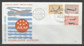 ANTILLEN 1968 FDC E052 A.L.M LUCHTVAART