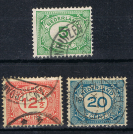 NEDERLAND 1921 NVPH 107-109 GESTEMPELD ++ L 535-2