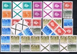 NEDERLAND KAVELTJE COMBINATIES GEBRUIKT ++ D(VEI) 098