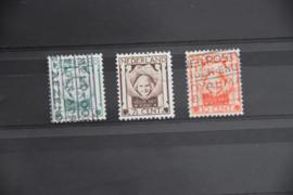 NEDERLAND 1924 NVPH 141-43 GESTEMPELD ++ A 462